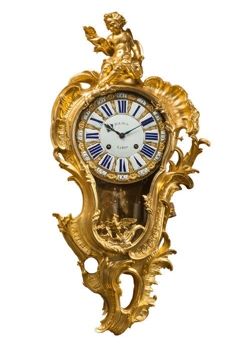 An ornate clock from the period
