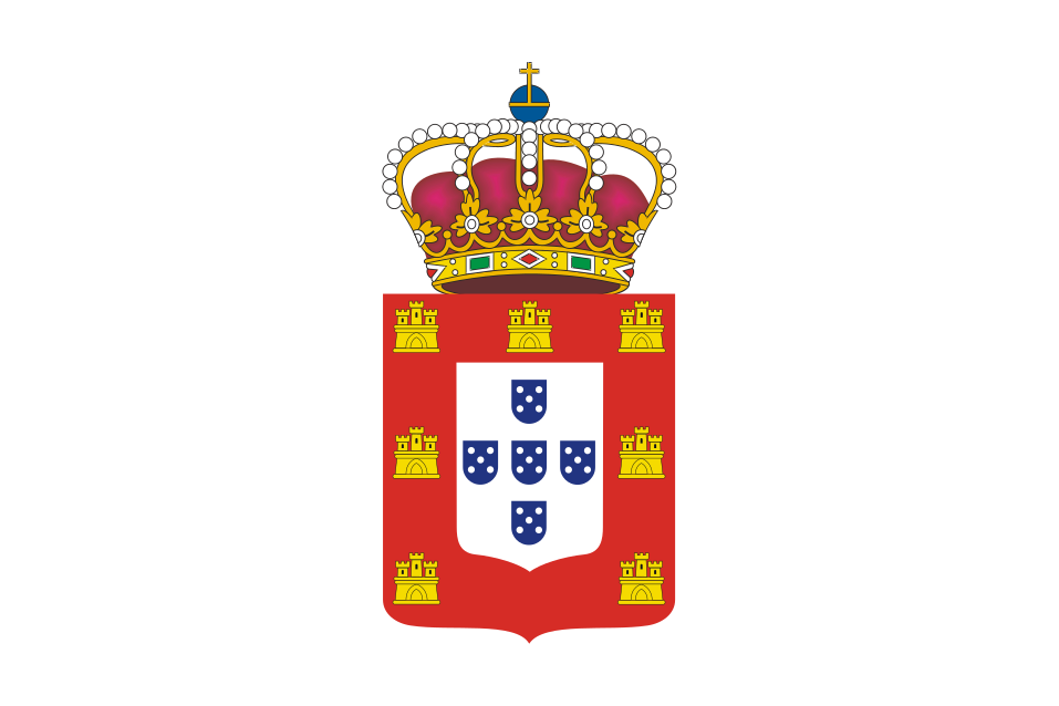 The flag of King John V of Portugal 1707