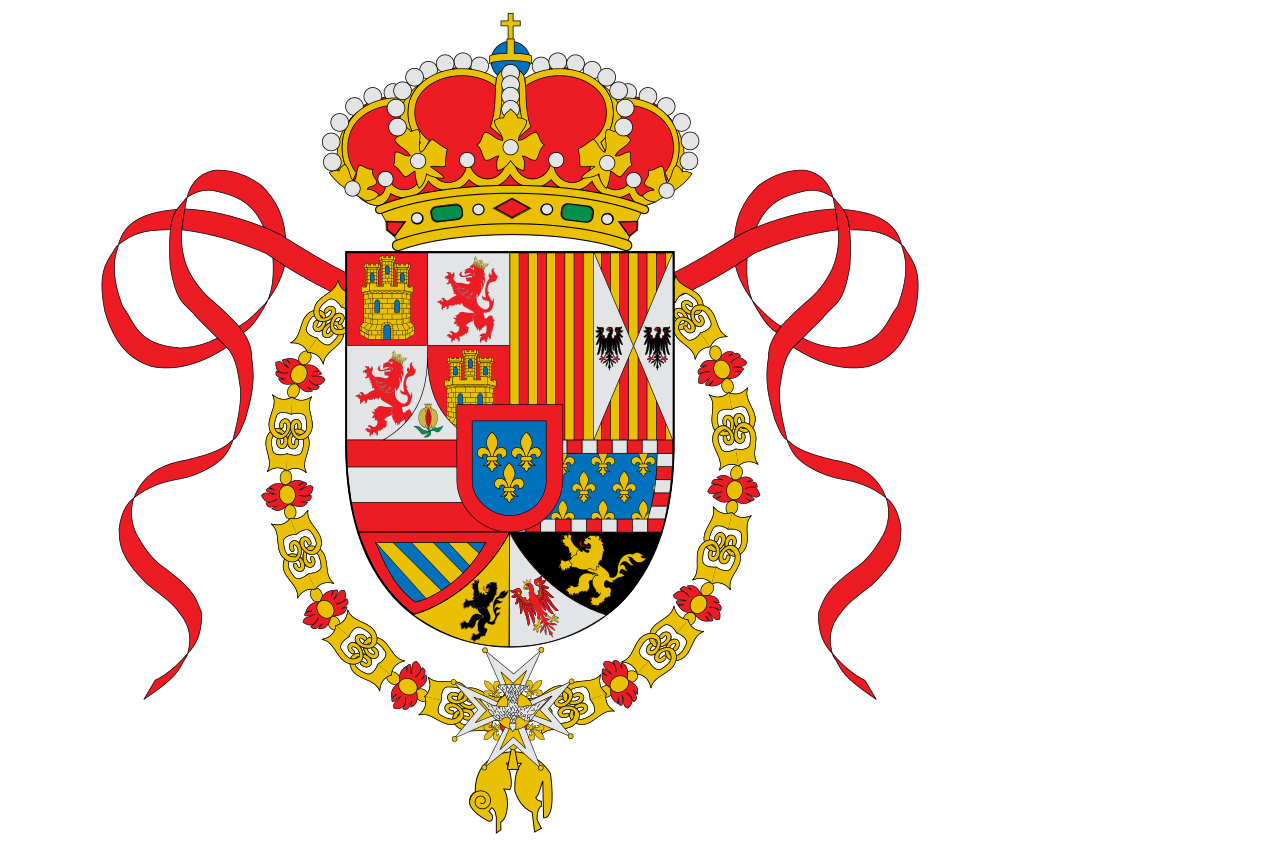 The flag of Bourbon Spain 1701-1760